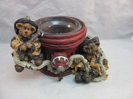 Boyds Bears & Friends Fire Hydrant Firemen votive candle holder. Bearstones - $16.99