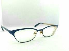 Kate Spade Leticia OJNA Matte Blue Gold Metal Eyeglasses Frames 52-16 135 - $45.00