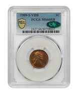 1909-S VDB 1c PCGS/CAC MS66 RB - Popular Key Date - Lincoln Cent - $7,895.80