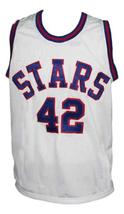 Willie Wise Utah Stars Retro 1972 Basketball Jersey New Sewn White Any Size image 1