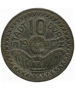 1917 10 Pfennig Düren Stadt, Rheinprovinz Germany Coin Munich Notgeld (M... - $16.00