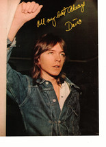 David Cassidy teen magazine pinup clipping looking out somewhere jean jacket
