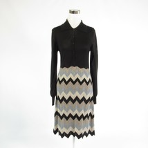 Black taupe chevron BCBG MAX AZRIA stretch long sleeve sweater dress M - $49.99