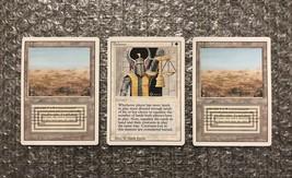 MTG Magic: The Gathering Revised Cards Lot: Balance x1 & Scrubland Dual Land x2 - $831.25