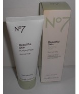 Boots No7 Beautiful Skin Purifying Mask Normal Oily Skin Cleansing 2.5 O... - $12.88