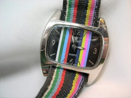 """L69, CANNES, Ladies Wristwatch, Colorful Face and 8.5"""" Fabric Band, wb - $13.79"""