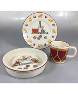 Tiffany & Co Toys Masons 3 Pieces Baby Child Dish Set Plate Bowl Mug Toy... - $81.34