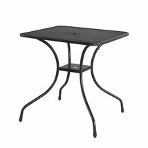 "28"" x 28"" Patio Table Square Steel Frame Top Umbrella Stand Outdoor Dini... - $59.99"