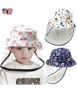 Protective Anti Spit Dust Animal Fruit Print Bucket Kid Sun Cover Shield... - $10.76+