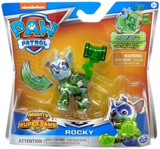 Paw Patrol Rocky Mighty Pups Super Paws Action Figure Nick Hammer Tail L124 - $17.34
