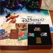 D23 expo 2018 Alan Menken  Visit Japan Disney Princess Pin Batch Set Bel... - €77,32 EUR