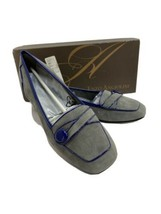 Enzo Angiolini Ealinen 8 Narrow Ballet Flats Loafers Gray Purple Patent ... - $29.95