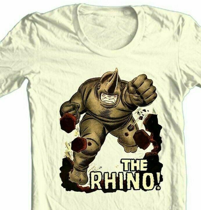 THE RHINO T-shirt vintage Silver Age comic book villain superhero cartoon tee