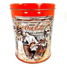 Coca-Cola Collectible Tin Old Fashioned Bar Large Round Decorative Coke ... - $16.99