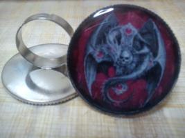 Dragon Skull Cross Ring.Gothic - $22.22