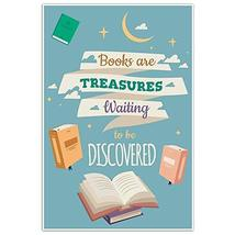 Books Are Treasures Motivation Quote Wall Art Poster - $20.29