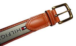 Tommy Hilfiger Men's Premium Ribbon Inlay Anchor Logo Leather Belt 11TL02X032 image 7