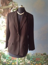 Laura Scott Petite Women's Brown Long Sleeve Suit Jacket Blazer Size 12P - $29.69
