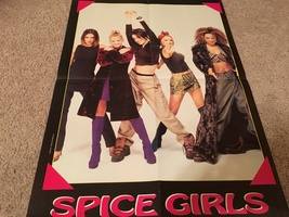 Zac Hanson Spice Girls teen magazine poster clipping hands in the air Bop