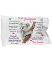 For My Granddaughter Pillowcase Gift From Grandma Birthday Idea Baby Koala  - $23.99