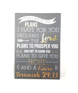 Faux Leather Journal For I Know The Plans I Have For You Inspirational - $13.16