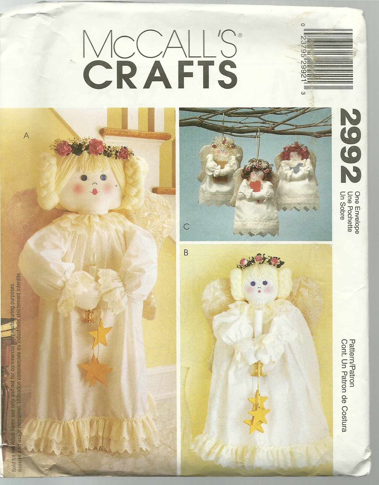 McCall\'s Sewing Pattern 2992 Angel Standing and 50 similar items