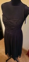 NWT ASOS Black Lacy Ft & Flare Dress US Size 8 Sheer Netted Layer & Bodice - $45.00
