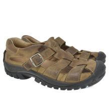 KEEN Sz 7.5 EU 38 Brown Leather Buckle Water Ready Hiking Trail Shoes - €36,97 EUR