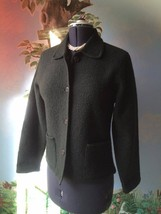 Talbots Dark Green Knit Jacket Blazer Cardigan Jacket Size Extra Small - $49.49