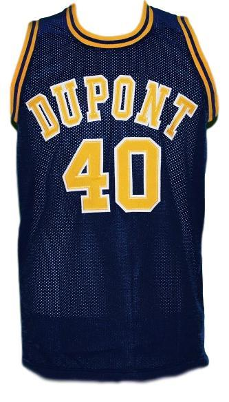 Randy Moss #40 Dupont High School Basketball Jersey New Sewn Navy Blue Any Size