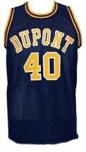 Randy moss  40 dupont high school basketball jersey navy blue   1 thumb200