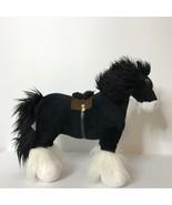 "Disney Store Angus Black White Horse Plush Brave 16"" Long 13"" Tall - $38.49"