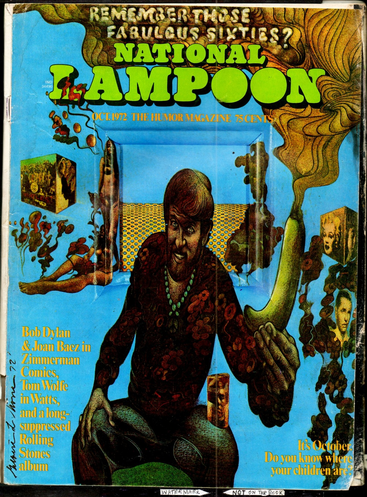 National Lampoon #31, Oct 1972 - '60s issue - Neal Adams' Zimmerman Comics