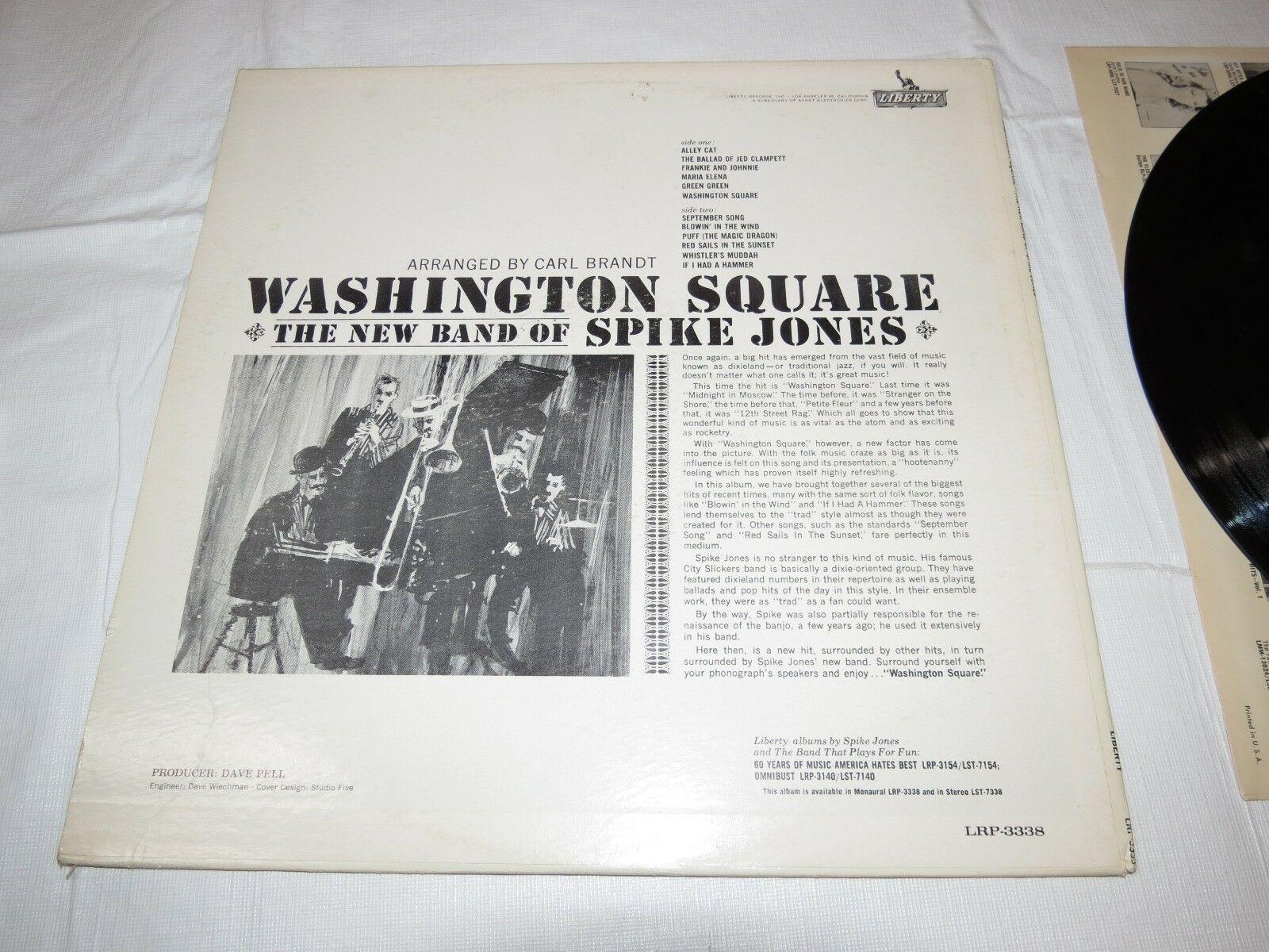 Washington Square The New Band of Spike Jones LRP-3338 Liberty LP Album Record