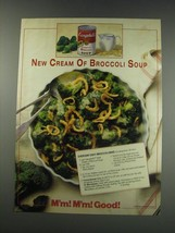 1991 Campbell's Cream of Broccoli soup Ad - recipe for Everyday easy broccoli - $14.99