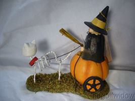 Bethany Lowe Halloween Skelly's Pumpkin Carriage Ride no. TD9077 image 3