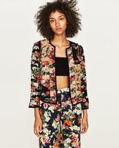 Bnwt Zara Gathered Patchwork Jacket Size Xs REF.2576/768 - $77.59