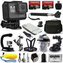 GoPro HERO6 HD Action Camera (CHDHS-601) + 15 Piece Accessories Bundle - $473.11