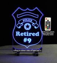 Personalized Police Badge LED Sign - Policeman - $79.20