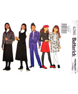 Butterick 6286 Girls Sewing Pattern Childrens Skirt Pants Jumper Sizes 1... - $7.95