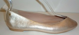 UGG Australia Size 7 LYNLEY Metallic Gold Leather Flats Loafers New Wome... - $118.80