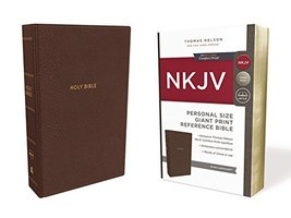 NKJV, Reference Bible, Personal Size Giant Print, Leathersoft, Brown, Re... - $24.99