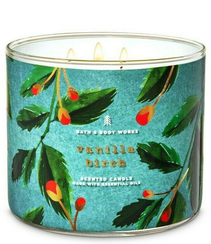 Bath & Body Works Vanilla Birch 3 Wick Scented Candle 14.5 oz - $24.30