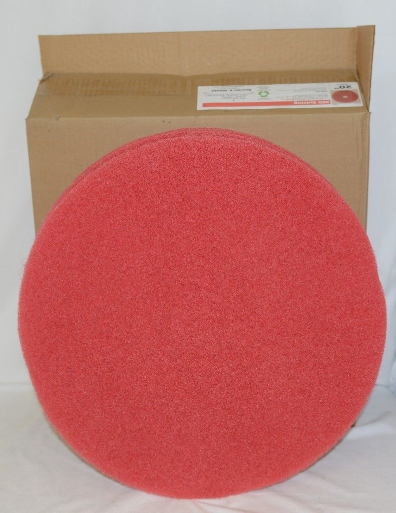 Tri Lateral Sales 404420 Red Floor Buffing Pads 20 Inch 5 Pack