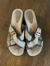 Cole Haan Nik Air Women's Beige/Copper Leather Wedge Sandals 6.5B - $25.73