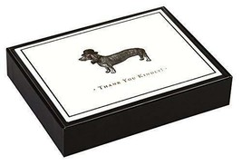 Alice Scott Vintage Prints Dapper Dachshund Luxe Thank You Notes by Galison - $16.22