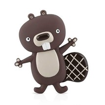 Nuby Squeezy Teethe Rubber Teether- Beaver - $12.23