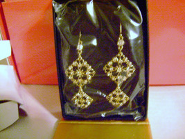 Avon Signature Collection Square Double Drop Earrings - Still Sealed in Plastic! - $9.49