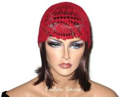 Handmade Red Pineapple Lace Cloche - $125.00