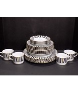 Mikasa Varsity Black 20 Pc  4 Place Setting L3139 Thailand - $143.55